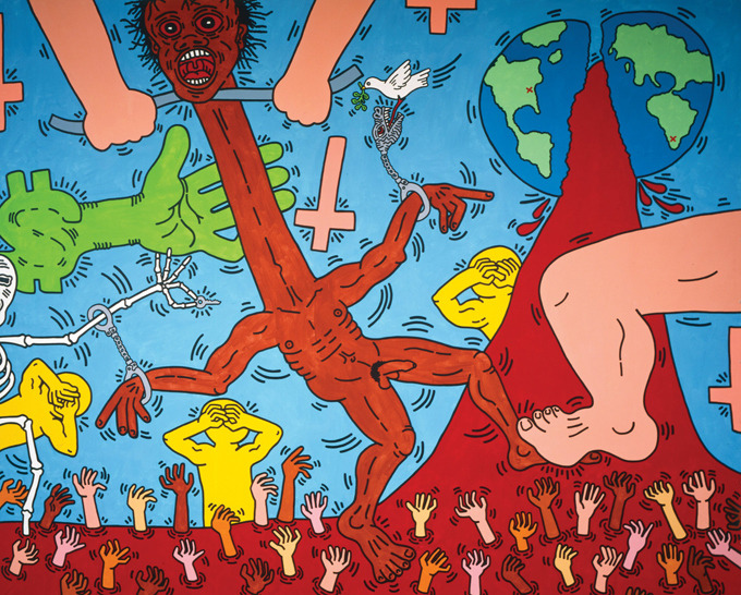Keith Haring: Michael Stewart USA for Africa